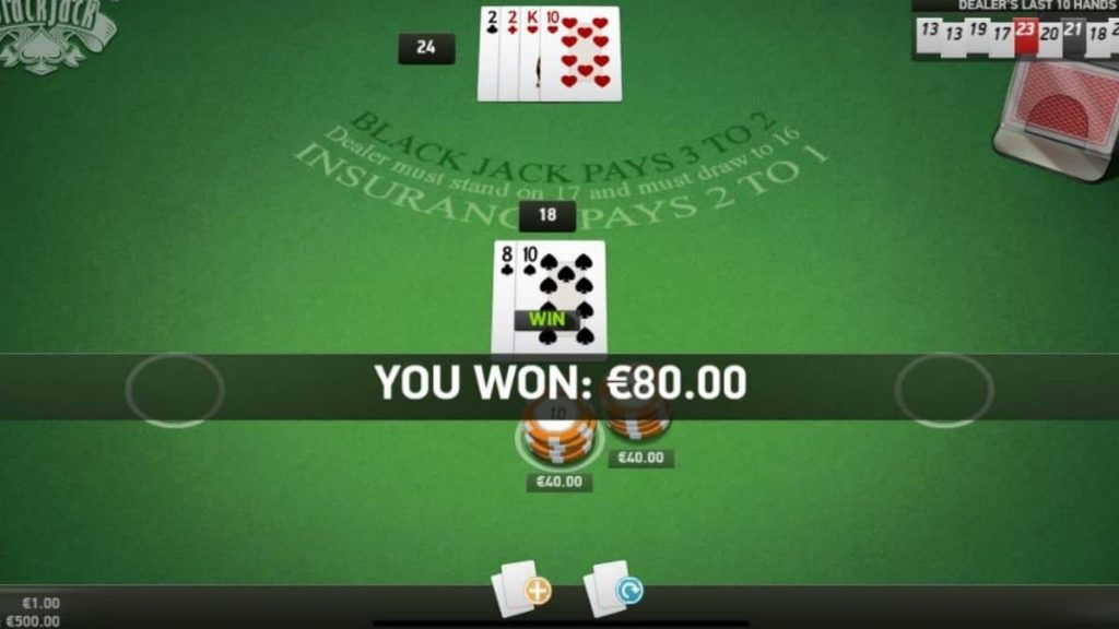 When can you double down in Blackjack?